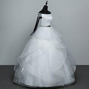 Image 3 - Real Photo White Fashion Classic Vestido De Noiva 2020 New Hot Sale Korean style Elegant Princess Sweetheart Lace Up with Sashe
