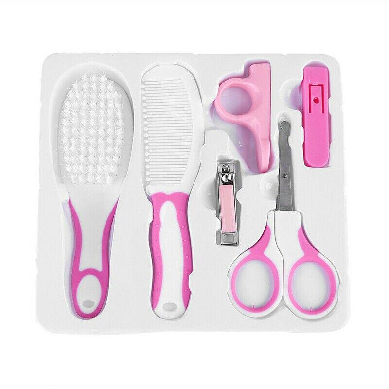 6Pcs Newborn Baby Healthcare Kits Set  Babies Nail Hair Manicure Brush Kids Grooming Kit Accesorries