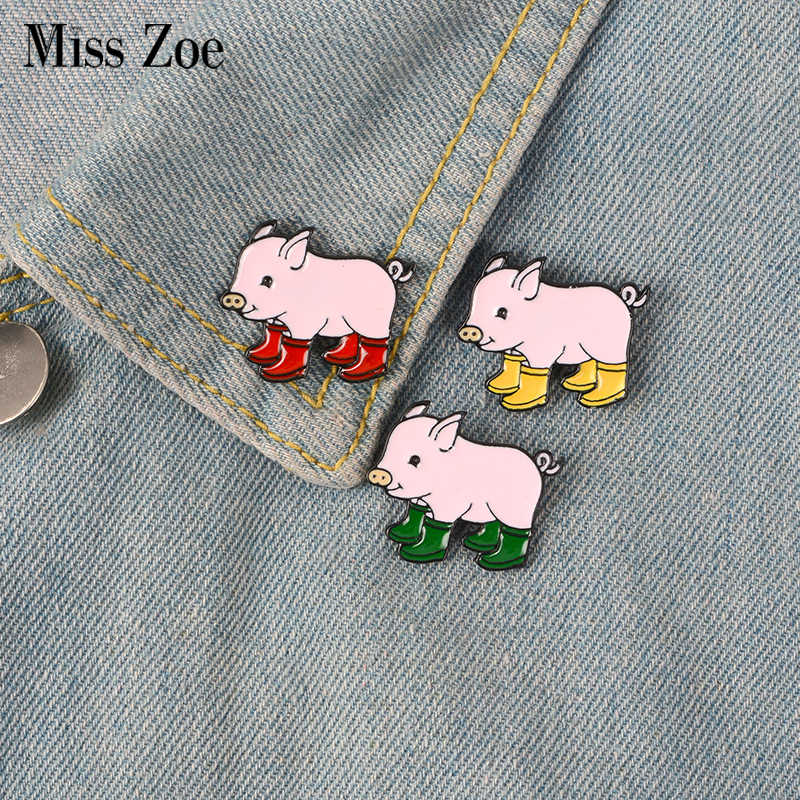 f230c74b86e3 Detail Feedback Questions about 3pcs/set Funny Pig With Rain Boots ...