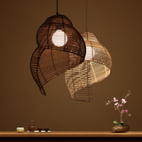 China Red fabric Pendant Light Bamboo Suspension Pendant Lamp Dia 65cm New for Parlor Dinning Room Restaurant Home Lighting G037