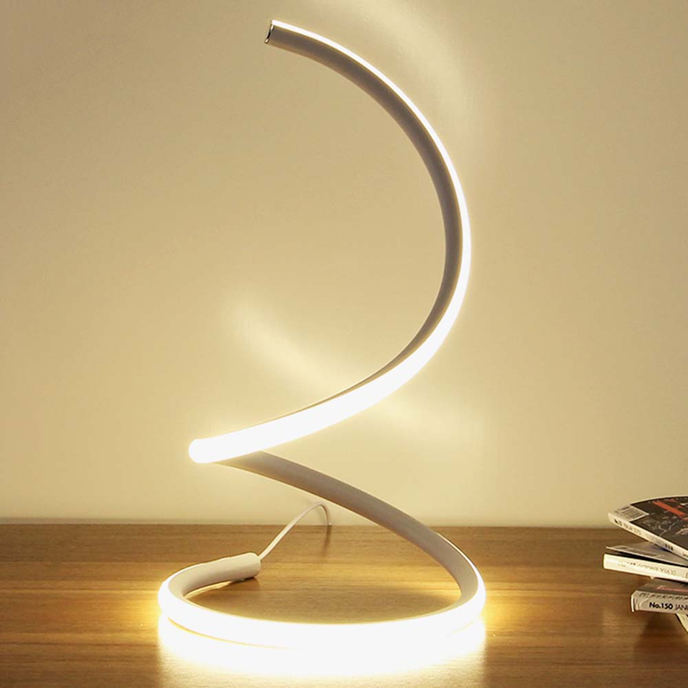 Modern Creative Winding LED Desk Lamps for Hotel Bedroom Living Room Wedding Art Decor Table Lamp Bedside Light Fixtures Gold creative retro novelty lamps iron art birdcage table lamps for bedroom modern table light for living room masa lambasi