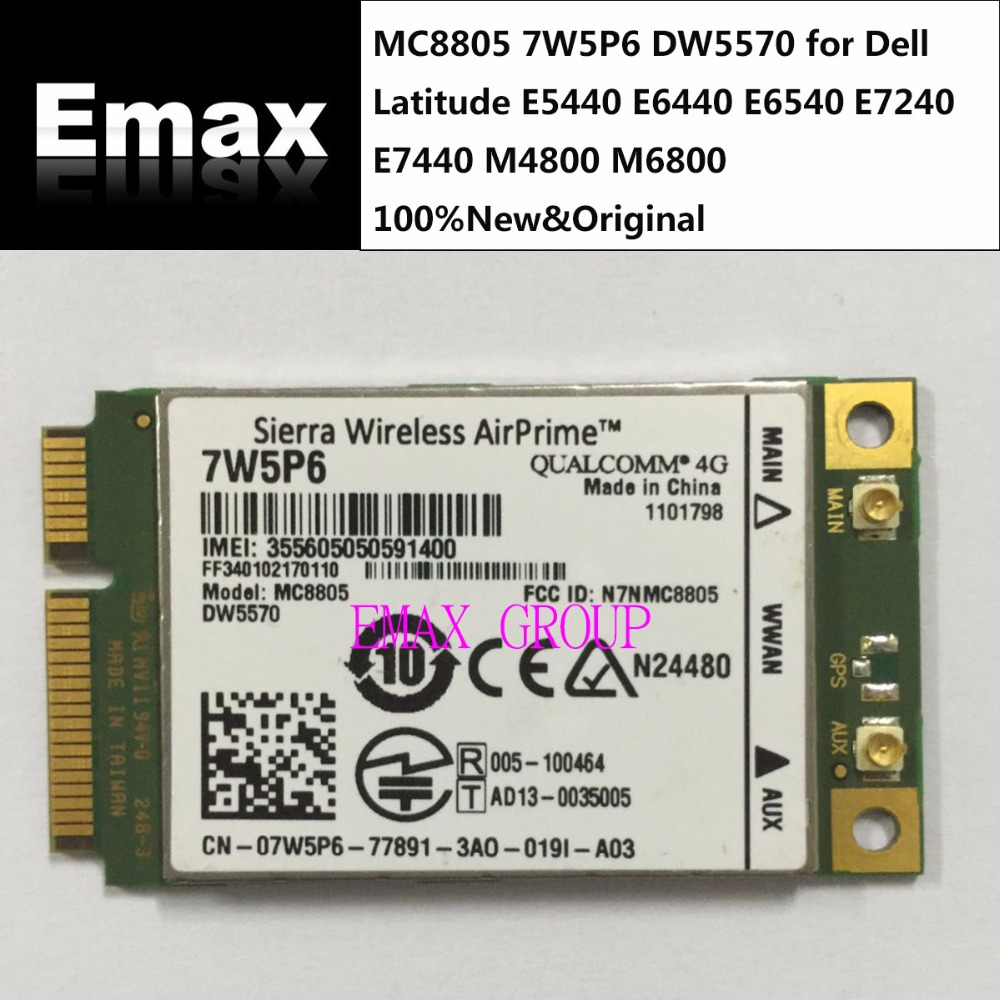 Sierra MC8805 Unlock DW5570 7W5P6 for Dell Latitude E5440