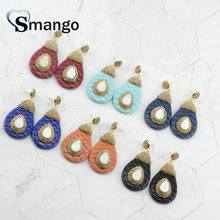5Pairs,The Rainbow Series,The Pear Shape Women Fashion Snake Skin Earrings.6Colors, Can Wholesale