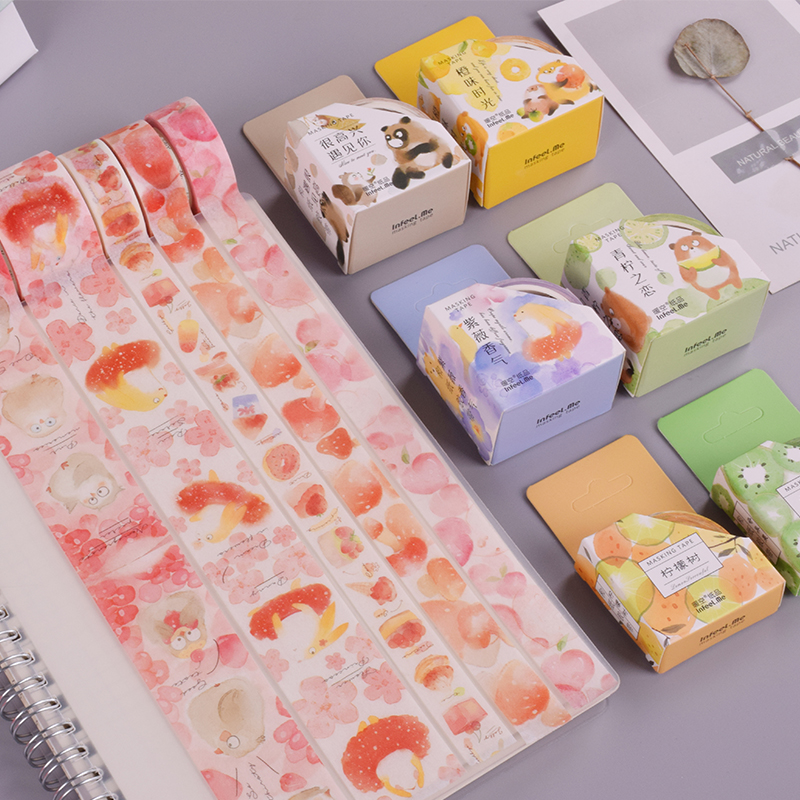 Forest Cute Animals Washi Tape DIY Decoration Scrapbooking Planner Masking Tape Adhesive Tape Label Sticker