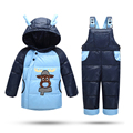 2016 Winter Coat for Baby boys Snow Jacket Kids 2 pieces Clothing set Christmas Gift Children Down padded Parkas