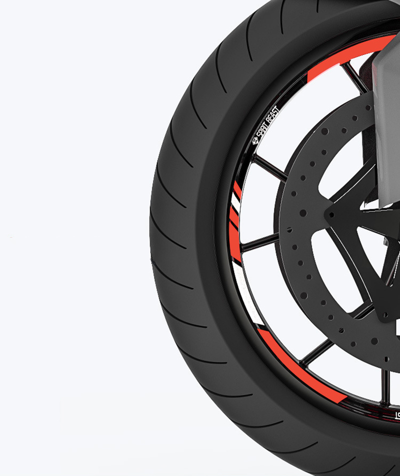 18 Inch Motorcycle Sticker Bach Moto Tire Tyre Wheel Decoration