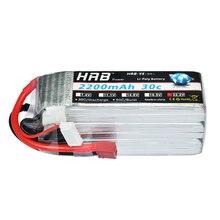 Аккумулятор hrb Lipo 6s 22,2 V 2200mAh 30C 60C батарея Lipo Bateria для RC FPV Вертолет Лодка Квадрокоптер