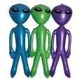 3pcsInflatable Alien Balloons Child Inflated Toys CosPlay Halloween Party Supplies Kids Tricky Favors Stage Props 135 cm Tall