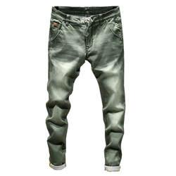 2019 Новая мода бутик стрейч повседневные мужские джинсы/обтягивающие мужские джинсы прямые мужские джинсы/мужской брюки
