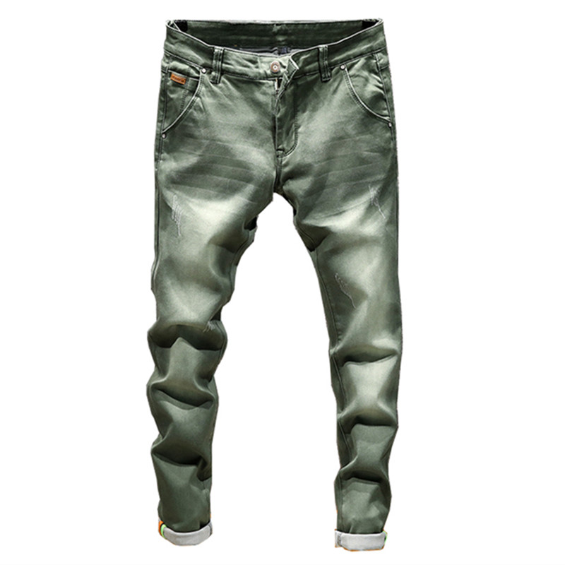 2019 New Fashion Boutique Stretch Casual Mens Jeans / Skinny Jeans Men Straight Mens Denim Jeans / Male Stretch Trouser Pants