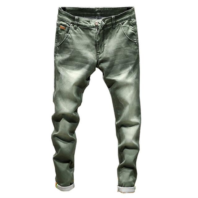 2019 nueva moda Boutique pantalones vaqueros elásticos informales para hombre/vaqueros ajustados para hombre Vaqueros rectos para hombre/pantalones elásticos para hombre pantalones