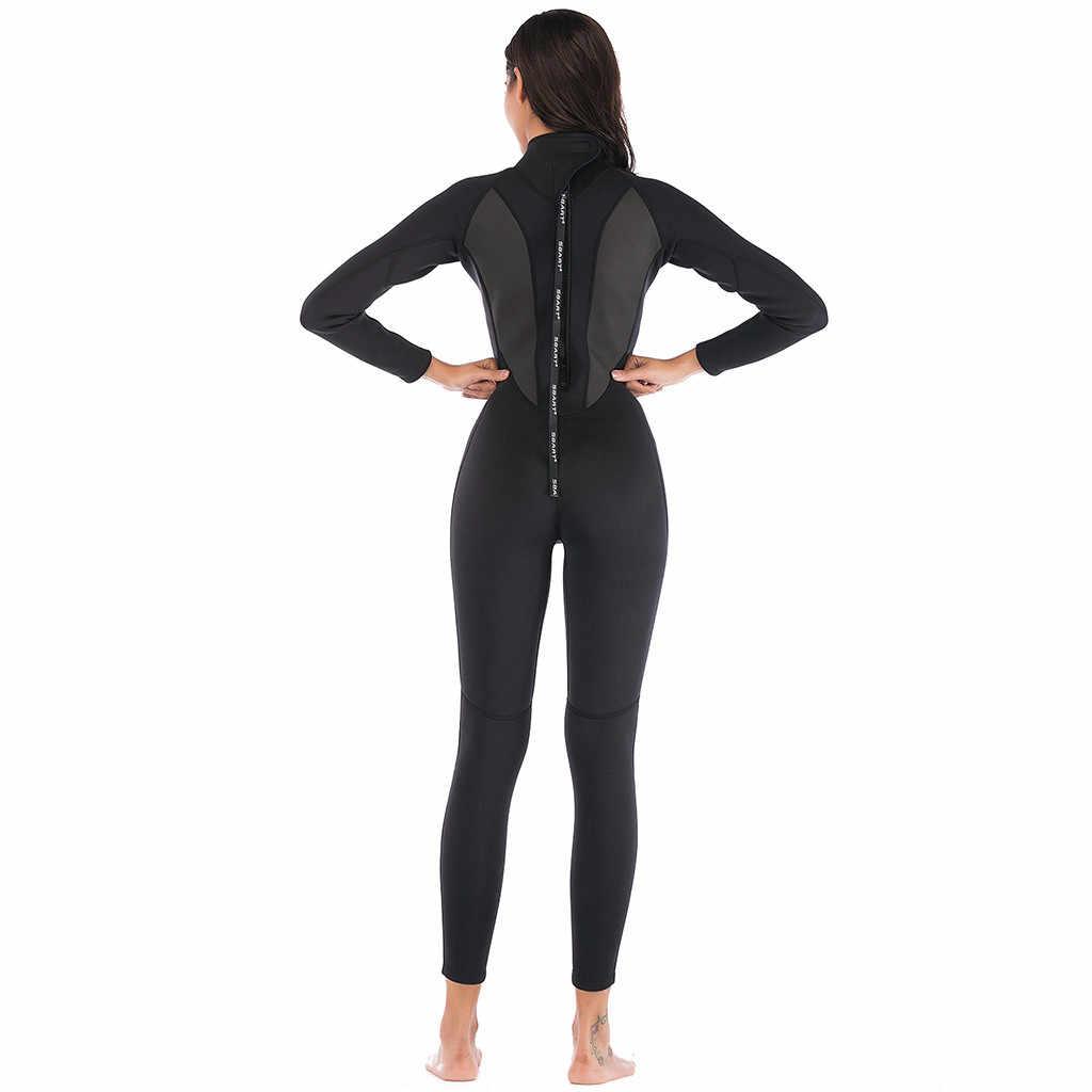 Womail Wanita Hiu Bart Musim Dingin Kolam Tebal 3 Mm Bahan Siam Diving Surfing Tabir Surya Cepat Kering Surfing Suit