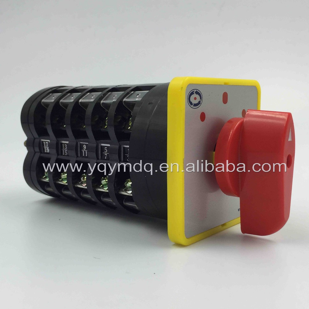 Rotary switch 3 postion 550V 16A 5 poles red dot LW5-16/5 main universal changeover cam switch manual silver contact 660v ui 10a ith 8 terminals rotary cam universal changeover combination switch