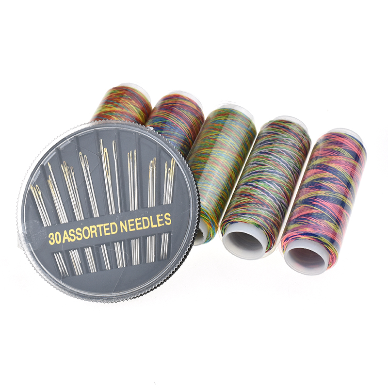 6 Pcs Set Pratical Colorful Sewing Threads and Sewing Needles For Women Mom Embroidery Tools DIY Craft Tools Sewing Accessories in Sewing Tools Accessory from Home Garden