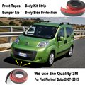 Car Bumper Lips For Fiat Fiorino / Qubo 2007~2015 / For Car Tuning / Body Kit Strip / Front Tapes / Body Chassis Side Protection