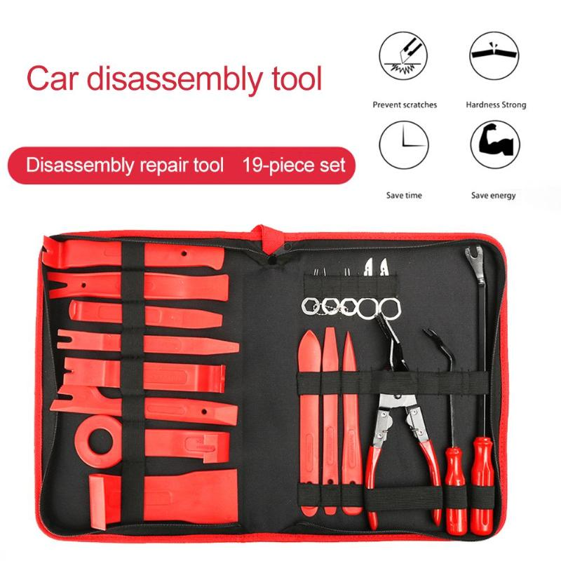 11/19pcs Car Disassembly Tools DVD Stereo Refit Kits Interior Plastic Trim Panel Dashboard Installation Removal Repair Tools