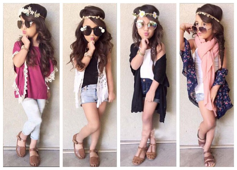 Fashion Kids Summer Girl 39 S Clothing Sets Lace Blouse Vest Denim Shorts Stylish Girls Casual