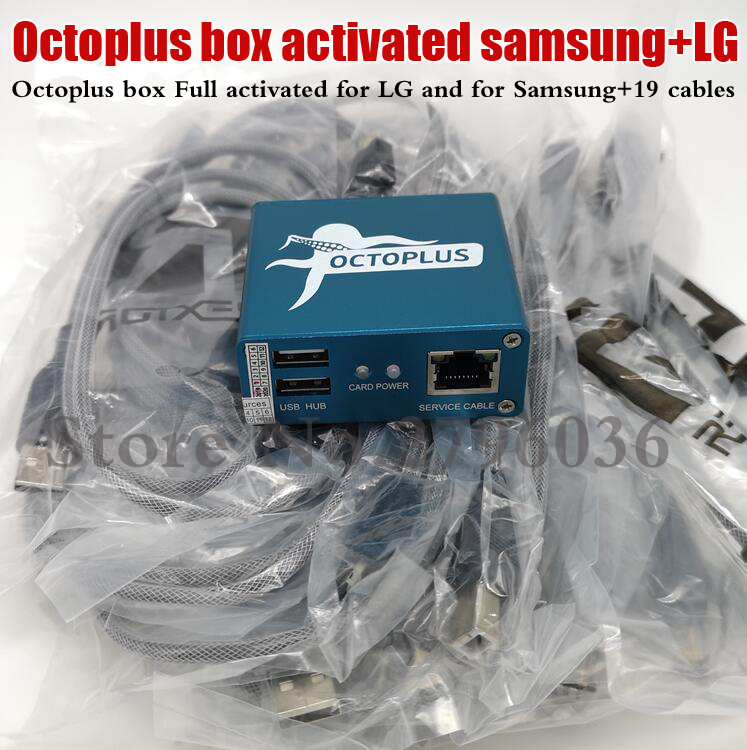 100%  Original Octoplus Box Full Activated For LG And For Samsung+19 Cables Unlock Flash &Repa