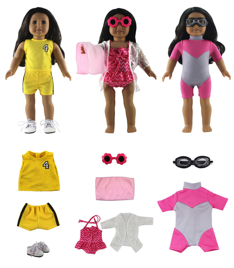 4Set Doll Clothes Dress Outfits Cosplay For 18 inch Girl Our Generation 18 inch