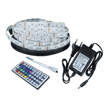 SMD5050 DC12V 5 meter RGB Flexible LED strip Non-waterproof ,12V3A power supply,44 key remote controller indoor light decoration