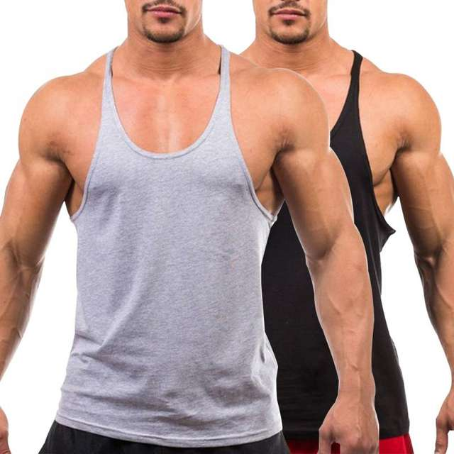 Summer Men's Vest Muscle Bodybuilding Tank Top Sleeveless Solid Color Slim Vest
