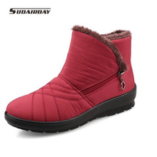 2016 winter Women Cozy Warm Cotton-padded Shoes Waterproof Woman short Boots thermal slip-resistant Snow Boots Plus size 42