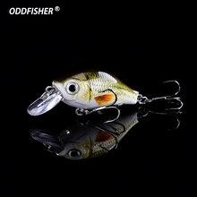Купить с кэшбэком 1 PCS Fishing Lure Crankbait 4.5cm 8.6g Hard Lure Mini Minnow Crank Bait Fishing Wobblers Artificial Lures Topwater Swimbait