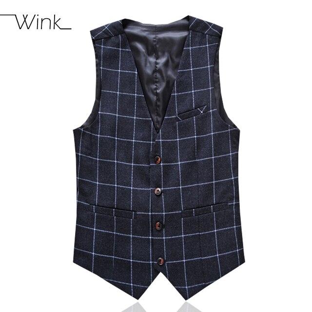 Men's Plaid Suit Vest Wedding Formal Business Suits Costume Chaleco Hombre Slim Fit Plus Size 5XL 6XL Brand Superior Tuxedo E525