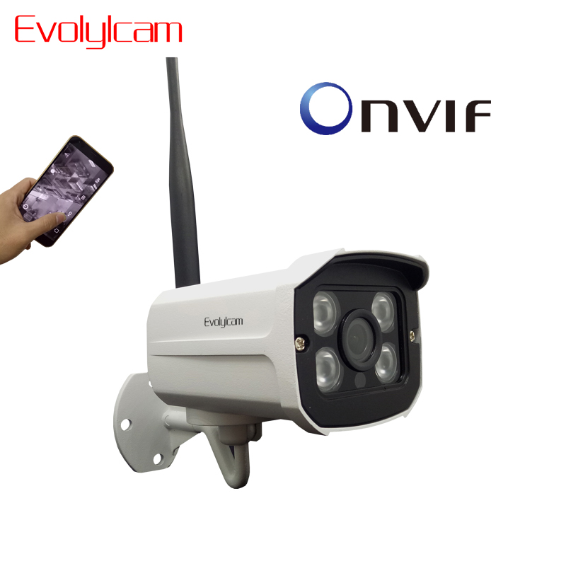 <font><b>HD</b></font> 1080P WiFi IP Kamera Wireless Onvif 720P CCTV Kamera Home Security Surveillance Micro SD Karte Slot Outdoor wasserdichte Kamera image