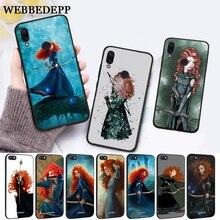 WEBBEDEPP Brave Princess Movie Silicone Case for Xiaomi Redmi 4A 4X 5A 5 Plus S2 6 6A 7 7A K20 Pro Go
