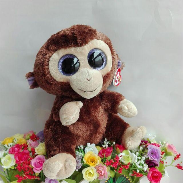 Coconut Monkey TY BEANIE BOOS 10  25CM BIG EYE Plush Toys Stuffed animals  KIDS TOYS Children toy car home decorations hobbies 1647b9d3ec7