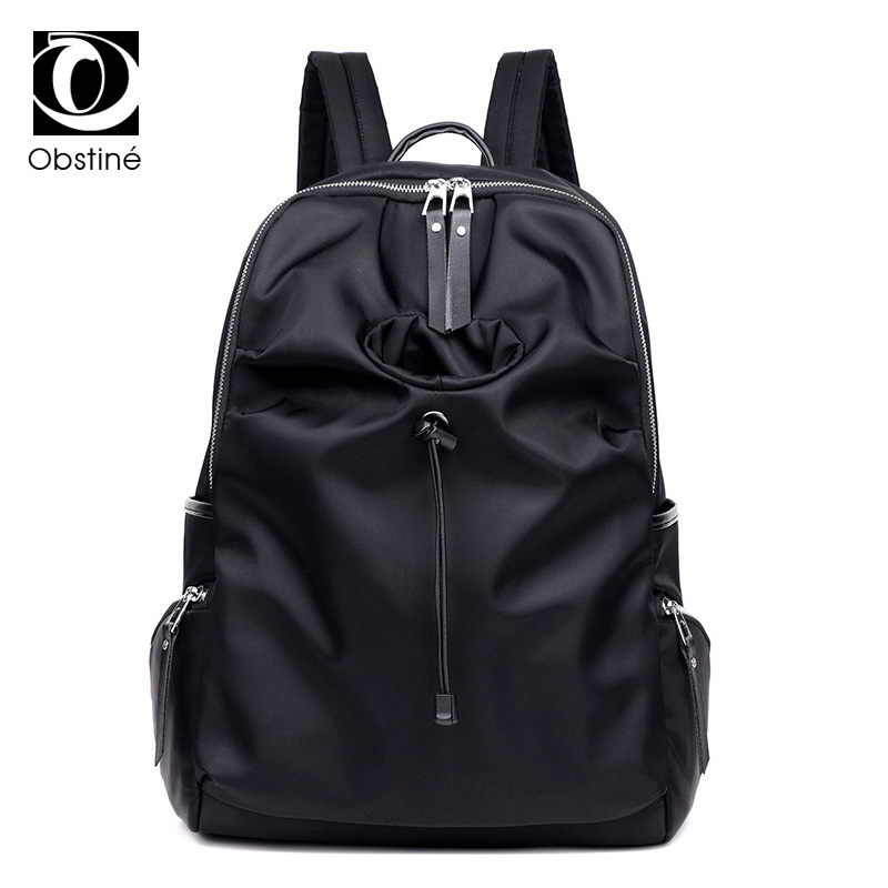 oxford waterproof laptop backpack for women large nylon back pack for girls travel backpacks fashion cup holder rucksacks female