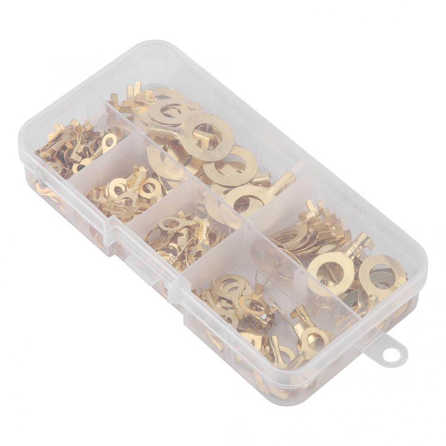 Crimp Terminal 3.2/4.2/5.2/6.2/8.2/10.2mm O-type Round Bare Cold Crimp Terminal Brass Wiring Connector