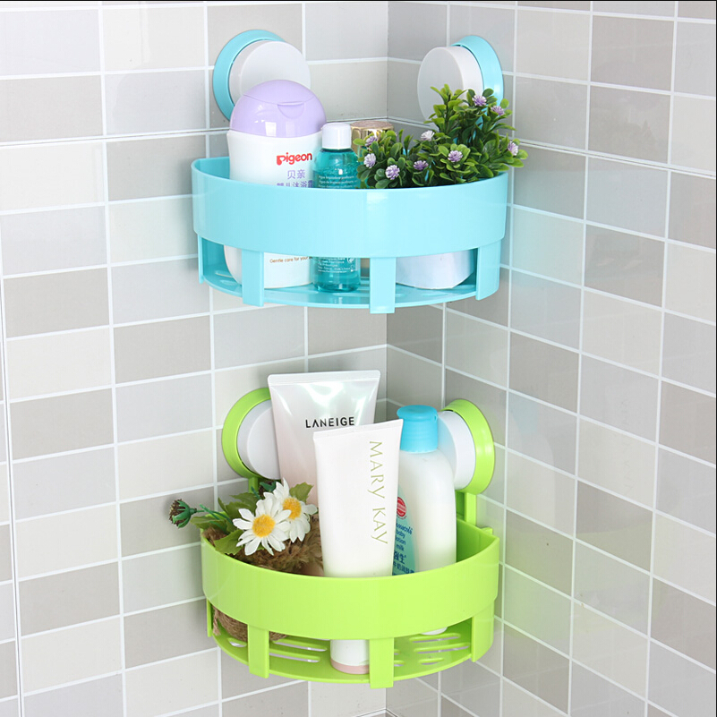 Simple life bathroom accessories basket rack wall hanging for Bathroom decor and storage