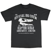 2018 Fashion Casual Streetwear Dr Alan Grant S Raptor Ridge T Shirt 100 Cotton Dinosaur Dig