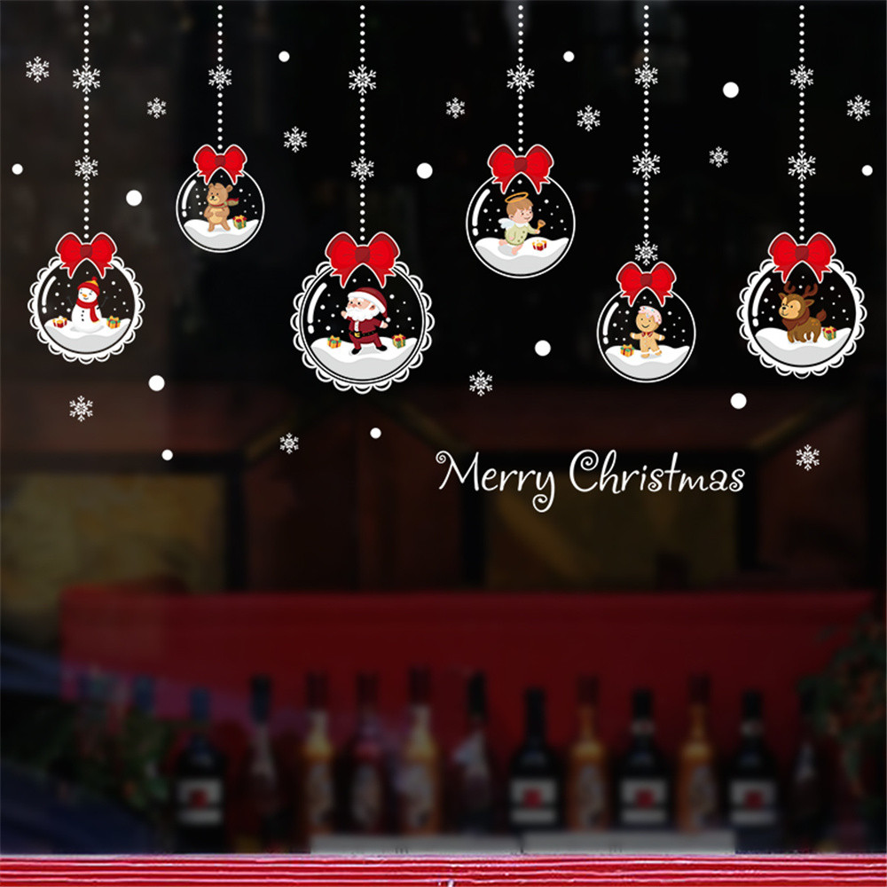 Christmas Wall Decals Removable.Us 2 1 50 Off Christmas Wall Stickers Merry Christmas Wall Art Removable Home Vinyl Window Wall Stickers Decal Deco Christmas Wall Sticker New In