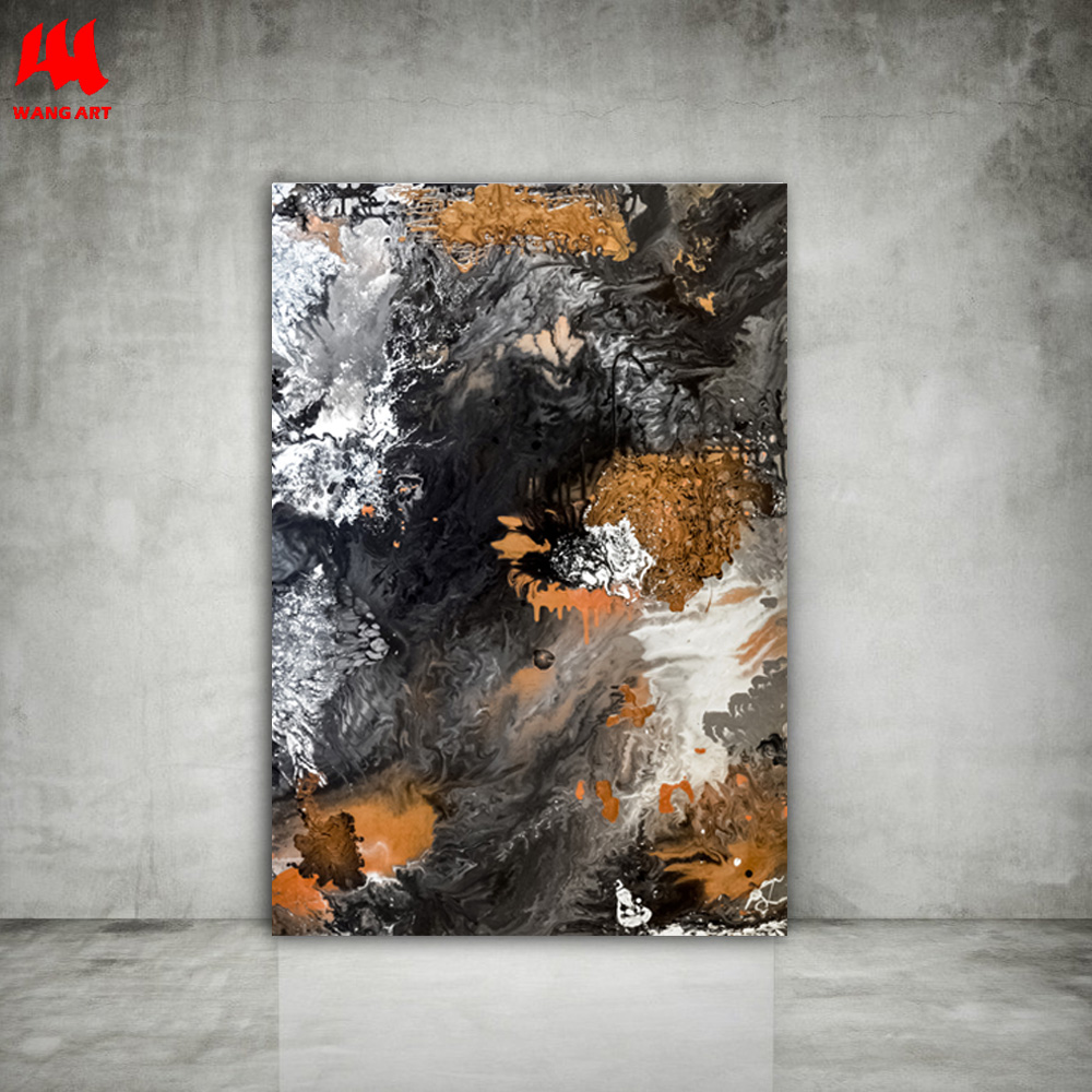 2f53a2827d1 WANGART Fine Art Print Acrylic Paintings Abstract Black and White Wall  Pictures for Living Room Bedroom Modern Home DecorJY0596-in Painting    Calligraphy ...