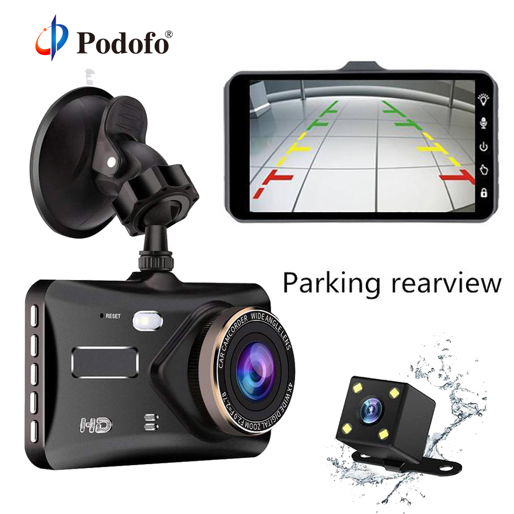 Podofo Car Dash Camera Vehicle Cam Full HD 1080P DVR 170 degree wide Angle Car Video Recorder Dashboard Camera With Night Vision