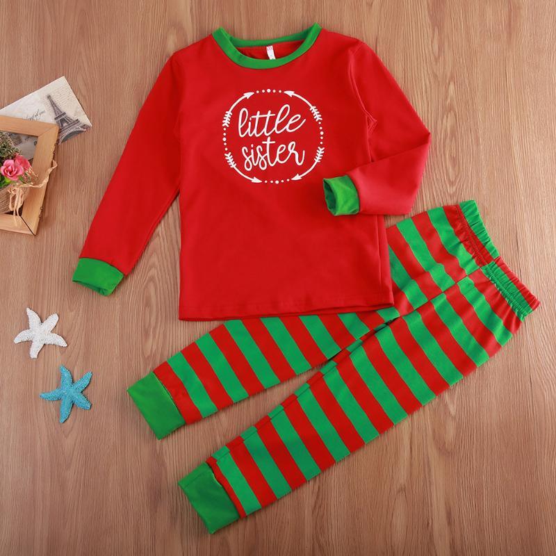 Family Matching Clothes Set Adult Women Kids Sleepwear Nightwear Family Matching Christmas Pajamas Set Outfits Family Clothing