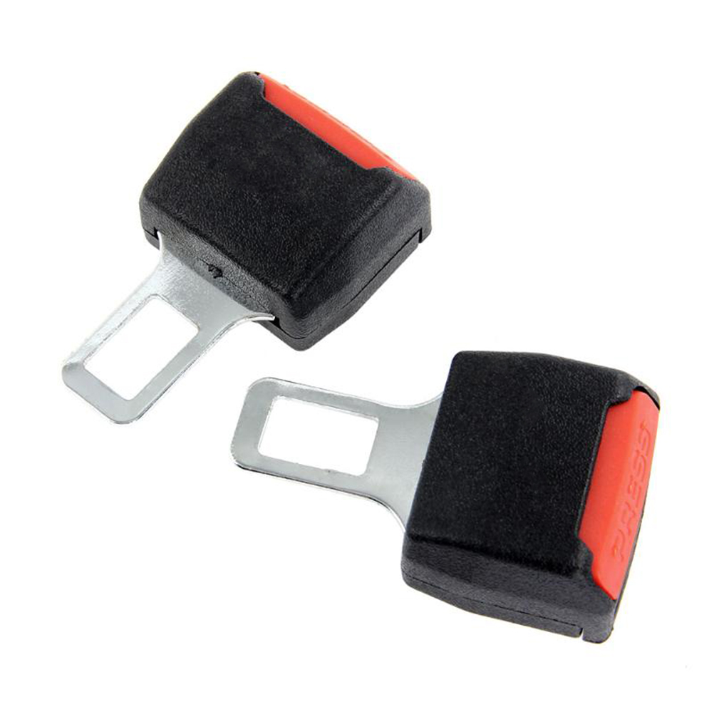 2pcs Universal Car Safety Seat Belt Seatbelt Clip Extender Extention Buckle Car Belt Socket Clip Extender Car Accessories universal abs car safety belt buckle black