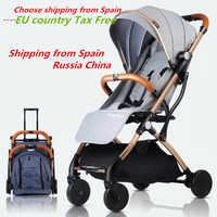 Cochecito de bebé carrito Carro de coche plegable cochecito de bebé 2 en 1 cochecito ligero cochecito Europa cochecito Original