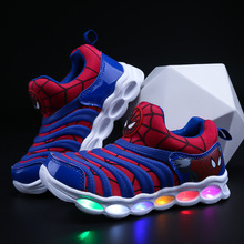 Boys Sneaker Girls Cartoon Shoes High Quality Kids Led Shoes With Lights Sneaker 2019 Spring Autumn Children Toddler Baby Shoes цена 2017