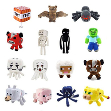 Minecraft Plush Toys 15 Styles Soft Stuffed Animal Doll My World Enderman Wolf Zombie Spide Cartoon Toy For Children Gifts