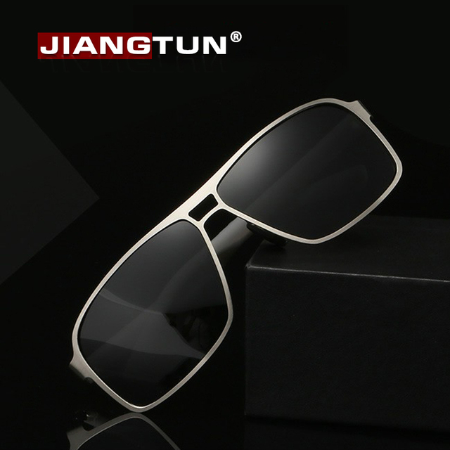 JIANGTUN Hot Sale New Men Cool Alloy Polaroid Sun Glasses Polarized Sunglasses Brand Design Sun Glasses Outdoor Driving Eyewear
