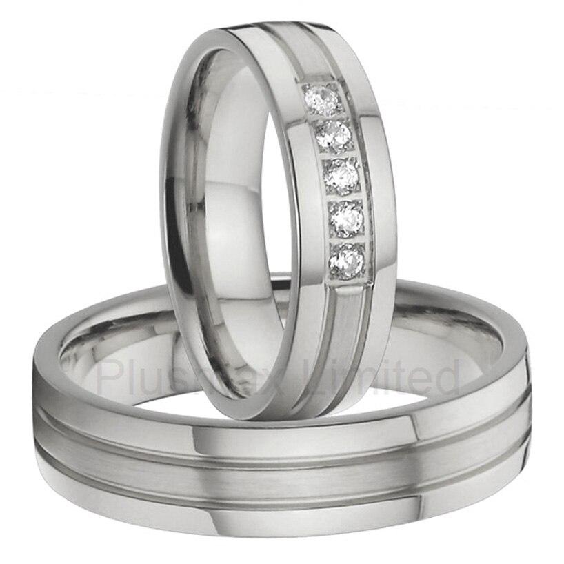 Alliances bijoux usine personnalisée titane anneaux de mariage ensembles