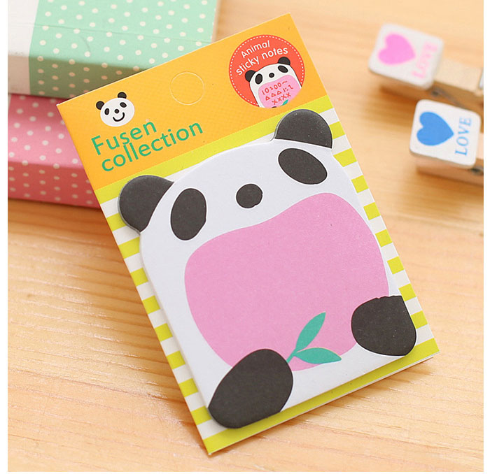 Cartoon Panda Memo Pad Sticky Notes Memo Notepad Bookmark Paper Sticker Notes Papelaria Stationery School Supplies Superior Materials