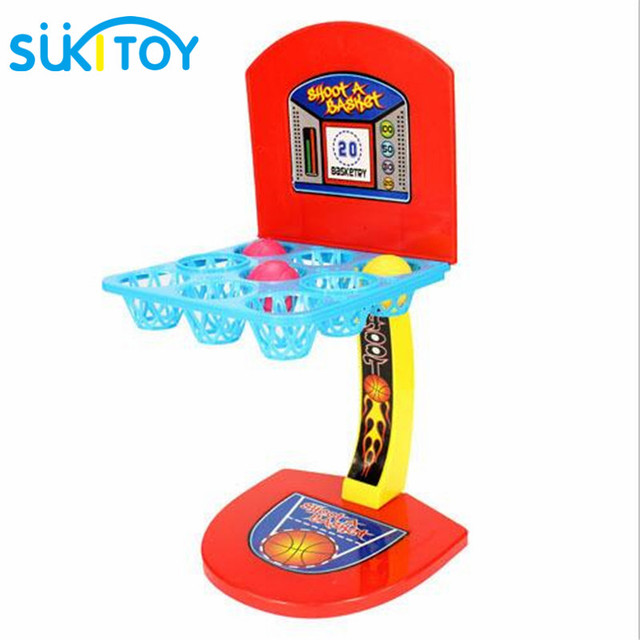 SUKIToy Kid's Desktop Game Mini Basketball Shooting Game Educational toys multicolour marbles game with children creative PL010