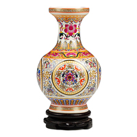 1PCS Ceramic ivory thin tire enamel vase flower inserted modern home decoration decoration ornaments Lu604514