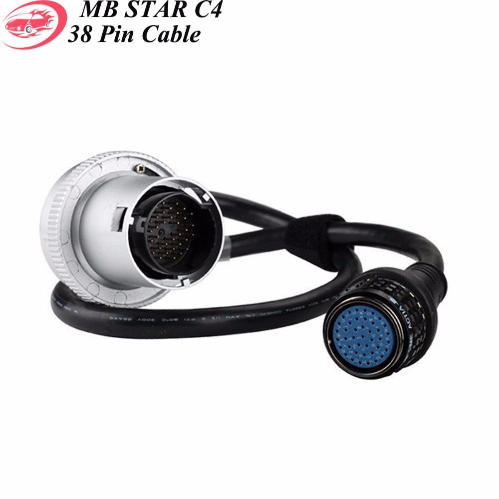 Prix pour Haute Qualité MB Star C4 38 broches Câble pour SD Connect C4 Connecteur 38Pin Câble Star Outil De Diagnostic En Stock Expédition Rapide