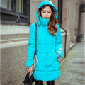 Down Cotton winter coat women Autumn winter jacket Women Thick Hooded Cotton-Padded Jacket Plus size Candy color Slim Parka 6XL